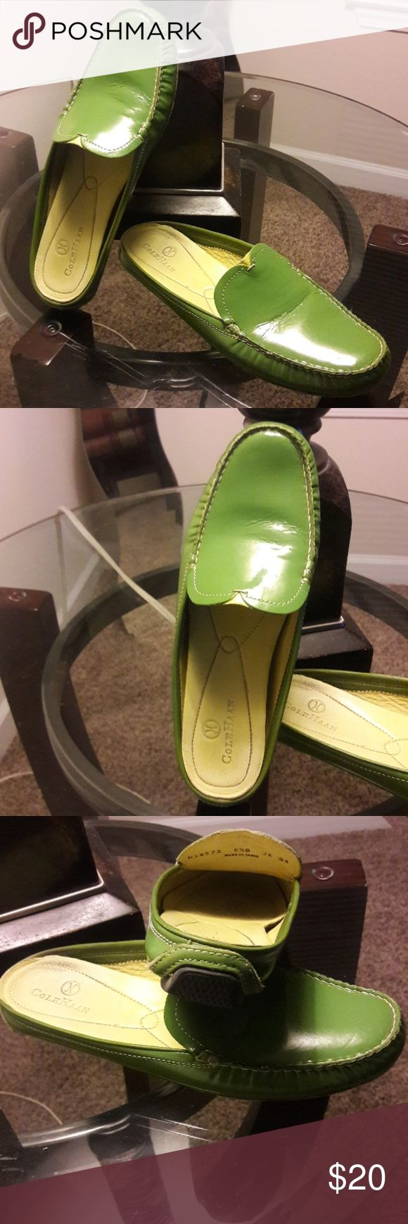 Cole Haan Women's Slides Comfy women's slides by Cole Haan.  Shoes are not new and have been worn but are in good condition and ready for more comfort wear. Good looking fashion forward shoes. Cole Haan Shoes Flats & Loafers