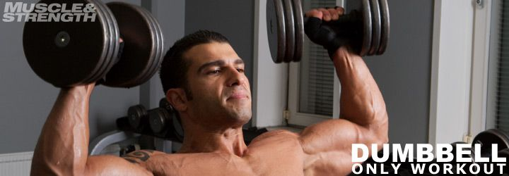 """Dumbbell Only Home Or Gym Full Body Workout. I think this is my ticket to the """"cardio when I want/muscle burn sans heart palpitations"""" routine I've been looking for :)"""