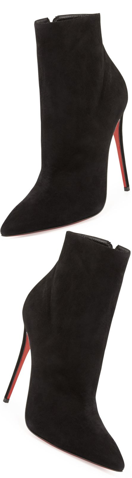 Christian Louboutin So Kate Suede Red Sole Bootie, Black - LOOKandLOVEwithLOLO