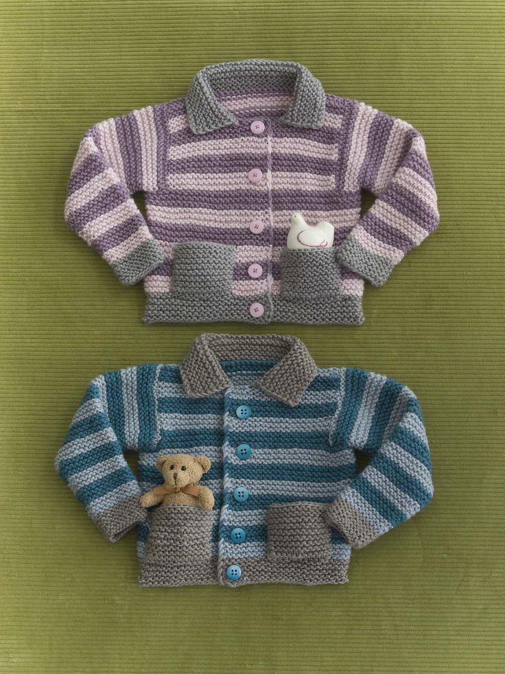 Ravelry: Girl's or Boy's Pocket Cardi pattern by Sandi Rosner