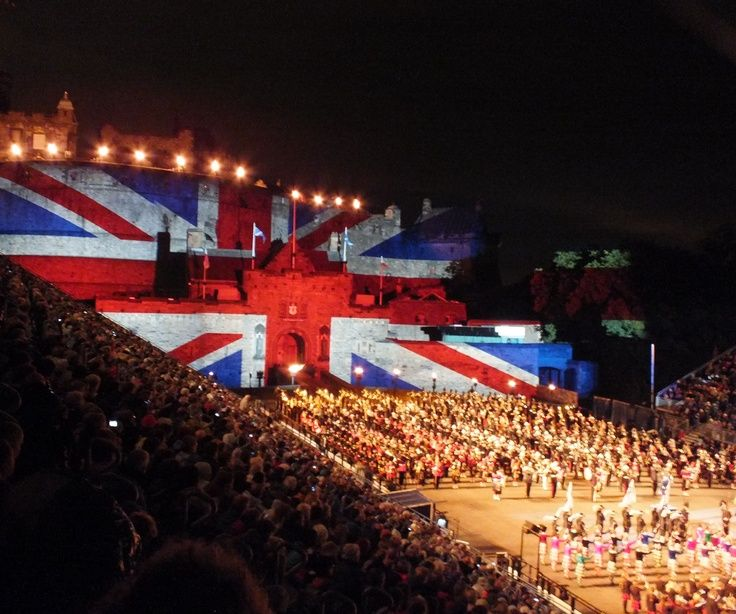#Union #Jack at #Edinburgh #Tattoo Edinburgh | tattoos picture edinburgh tattoo