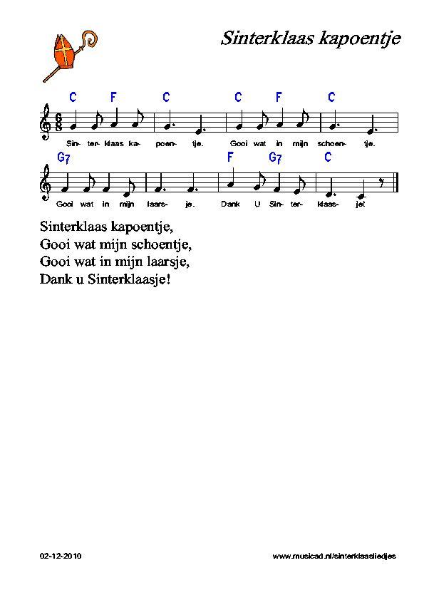Zelf spelen Sinterklaas-liedjes: Sinterklaas kapoentje