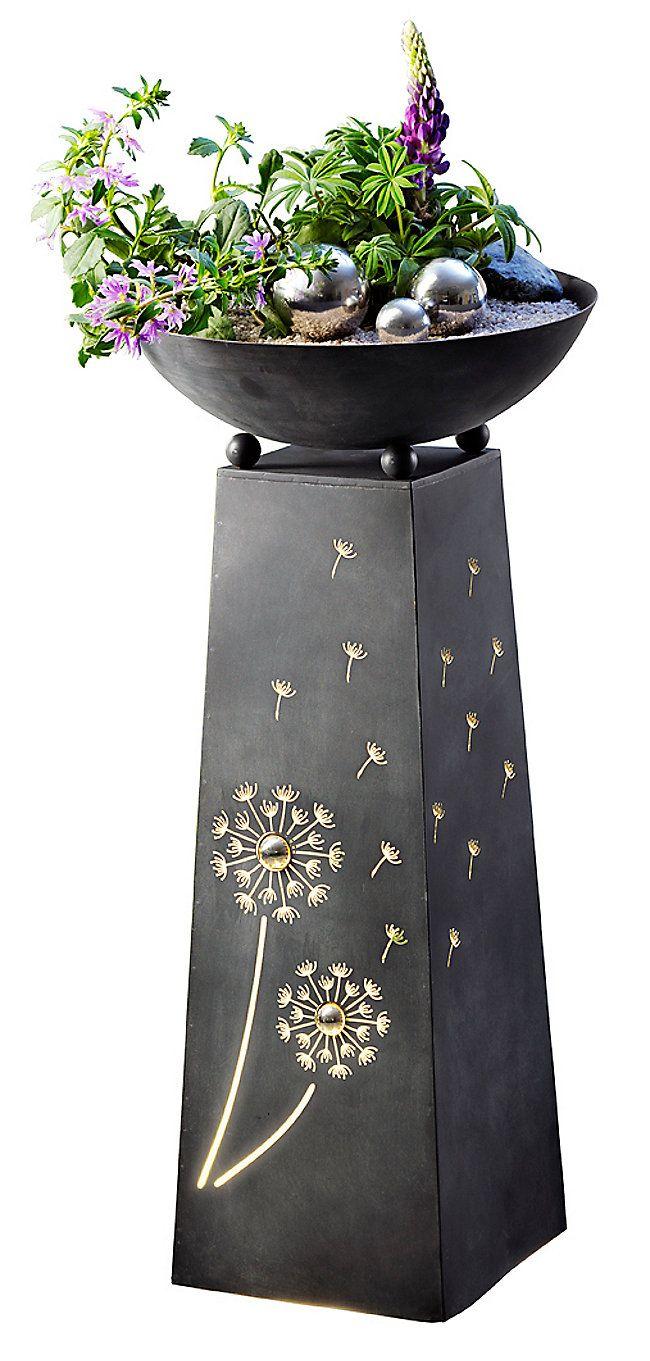 Pflanzsaule Pusteblume Mit Beleuchtung Bestellen Weltbild At Pflanzensaule Pflanzen Pusteblume
