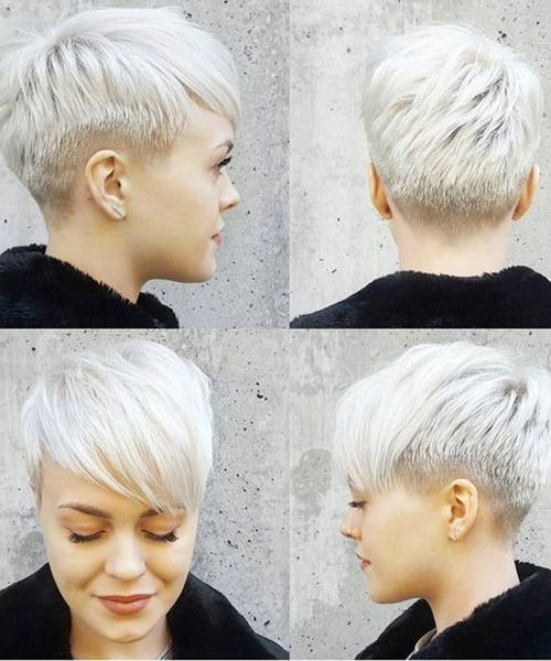 Platinum Blonde Short Pixie Haircuts for Women