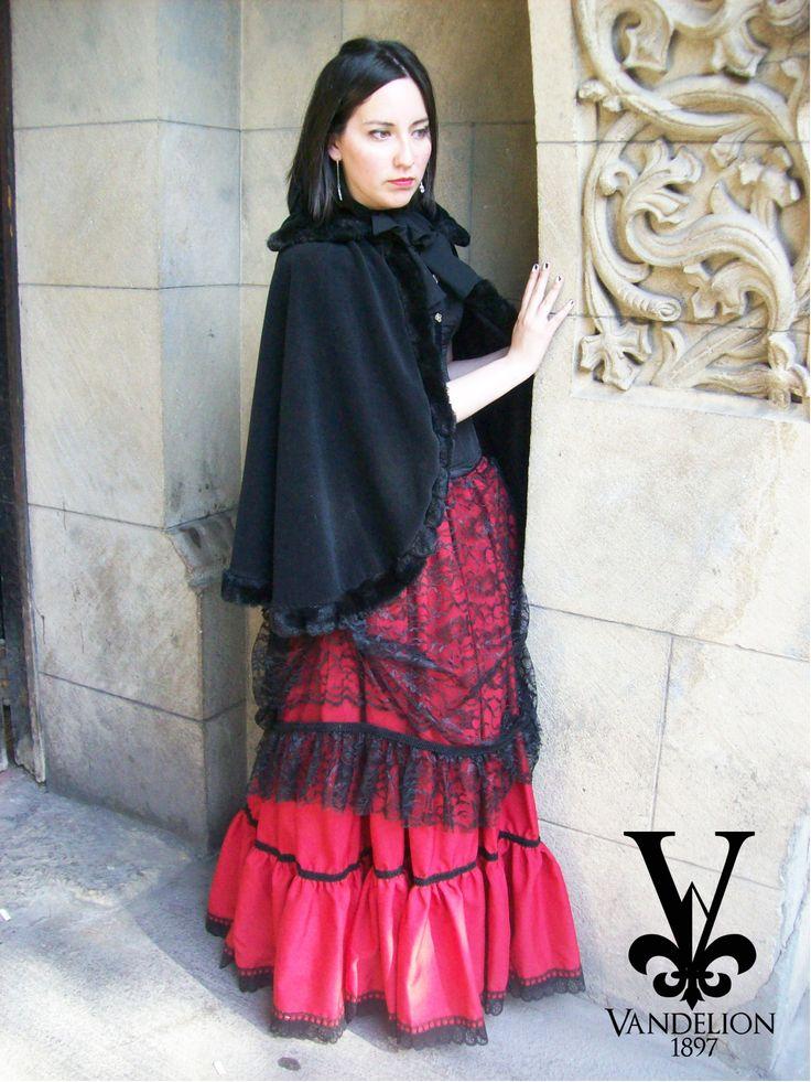 Skirt with petticoat, corset, coat, jabot and necklace by Vandelion 1897 Model: Mariana Gutierrez