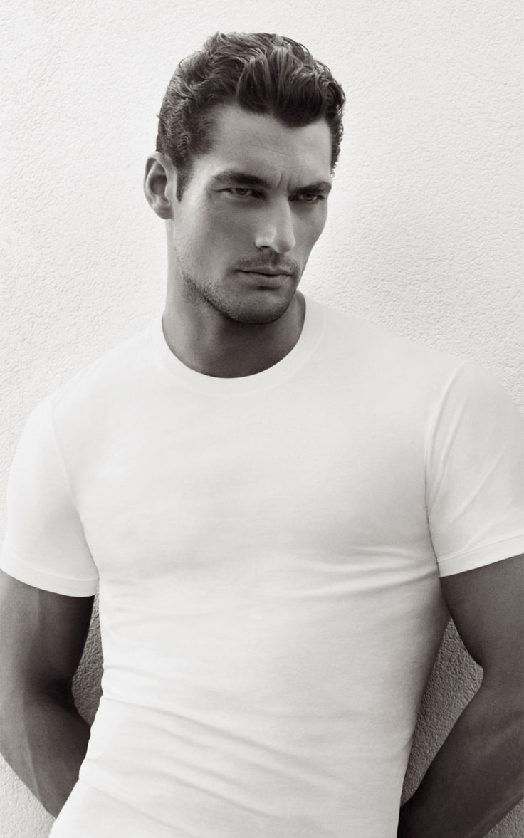 David Gandy ~ White T shirt #basics #musthaves