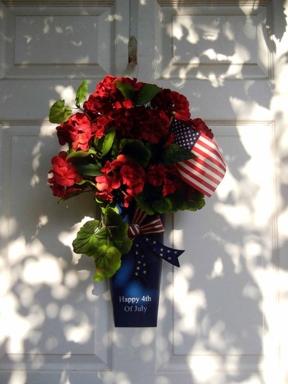 4th of July Wreath ~ {love the simplicity}
