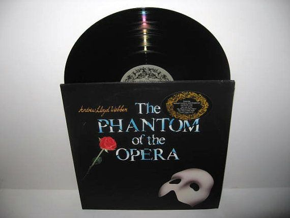 Rare Vinyl Record The Phantom of the Opera Original Cast Double Album LP 1987 Andrew Lloyd Webber Musical Classic