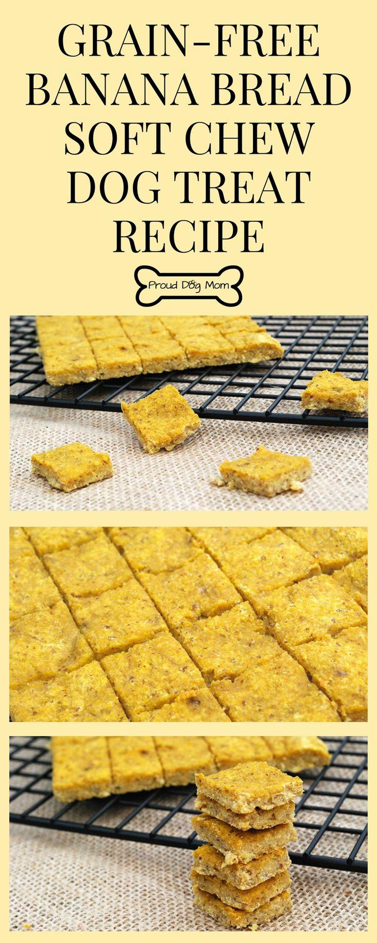 Banana Bread Soft Chew Dog Treat Recipe | Grain-Free Dog Treat Recipe | DIY Dog Treats | Homemade Dog Treat Recipe |