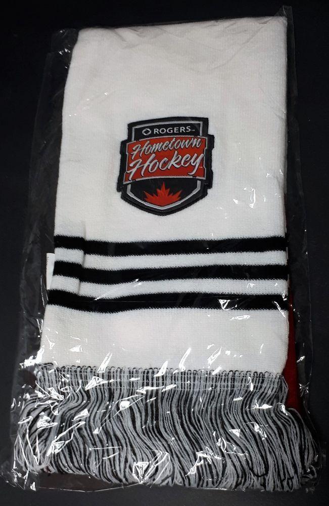 Rogers Hometown Hockey Winter Scarf Red White & Black Tassels ~ Brand New | eBay