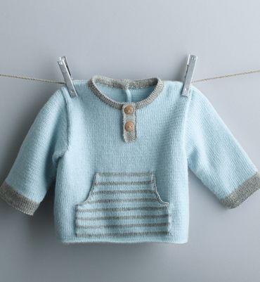 Modèle brassière bébé bicolore