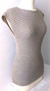 #Crochet Top Pattern. Sizes: XS-3X. PDF, written Document (w/lots of pics).