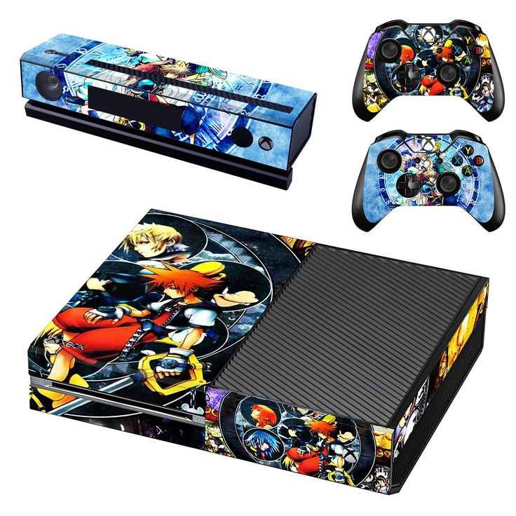 Kingdom Hearts HD xbox one skin decal for console and 2 controllers
