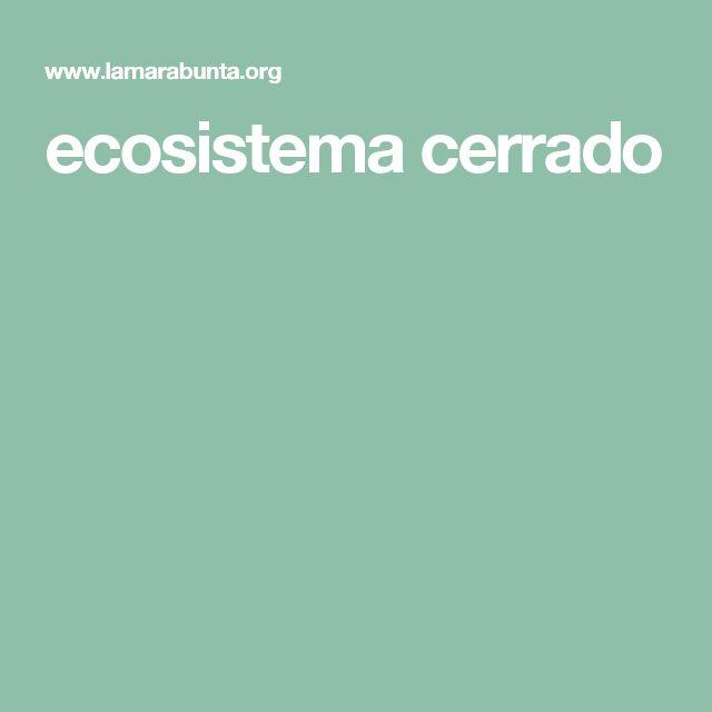 ecosistema cerrado