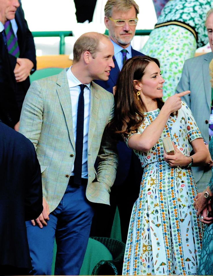 "thecambridgees: "" "" The Duke and Duchess of Cambridge attend the Men's Final of the Wimbledon Tennis Championships between Milos Raonic and Andy Murray at Wimbledon on July 10, 2016 in London, England. "" """