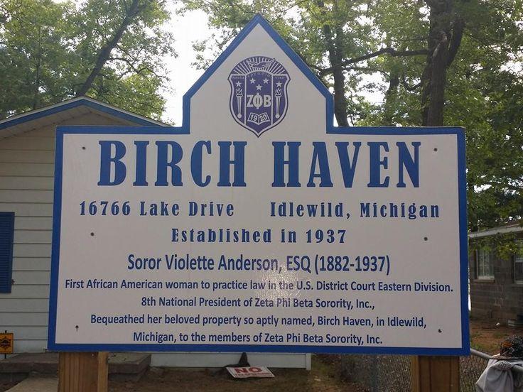 Birch Haven Idlewild Michigan Zetas Visited The Birch