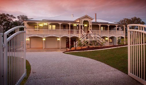 This beautiful Queenslander just won the 2012 QMBA Heritage home of the year.. *sigh* I can dream!