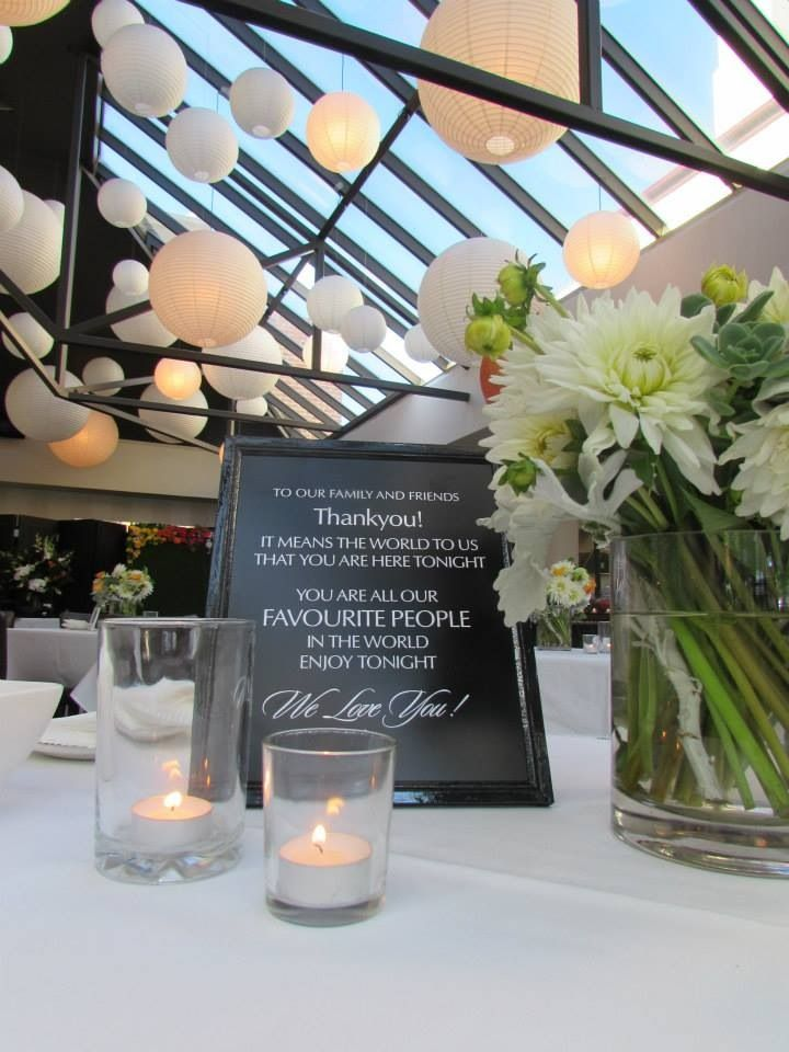 Personalised quotes in ornate frames throughout the Conservatory ... Kalane & Daniel did it so well - Jan 14 see more at: http://standrewsconservatory.com.au/kalane-daniel-11-january-2014/