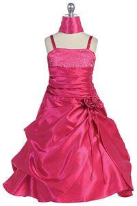 Flower Girls Dresses -   Girls Dress Style 720 - Taffeta Dress with Sequin Detailing