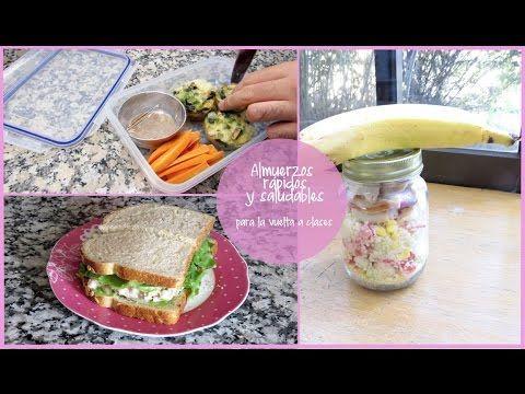 Almuerzos rápidos y saludables para la vuelta a clases ♥ Lmaquillaje - YouTube