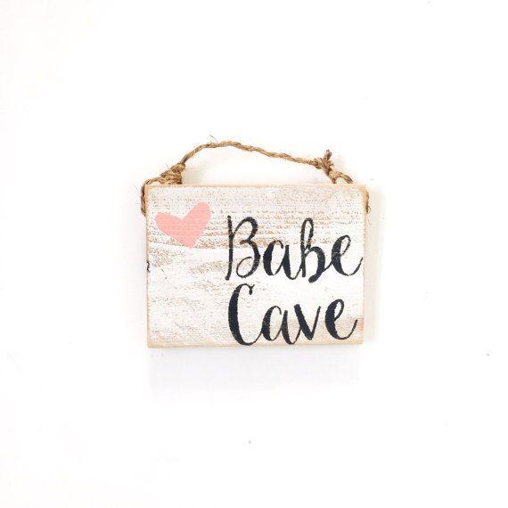Babe Cave / dorm decor / college decor / Sea Gypsy California / welcome /  / Wood SIgn