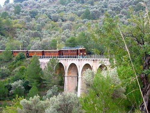 Soller mountain train  An original Victorian train which travels from Palma to Soller across the Serra de Tramuntana mountains.