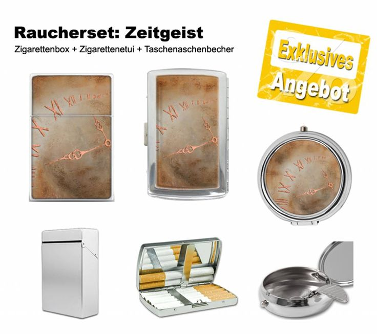 Das #Raucherset 'Zeitgeist' beinhaltet: #Zigarettenbox + #Zigarettenetui + #Taschenaschenbecher.  Elegante Zigarettenbox. Auch als #Visitenkartenbox verwendbar. Verchromtes Metall-Zigaretten-Etui mit Klammerhalterung für 12 Zigaretten. Besonders stabiler Oberflächenschutz und hohe Farbbrillanz.  Verchromter Taschenaschenbecher aus Metall mit Zigarettenauflage. #freistilkunstcfischer  #Accessoires #Raucher #Geschenkidee #Mode #Style #Fashion