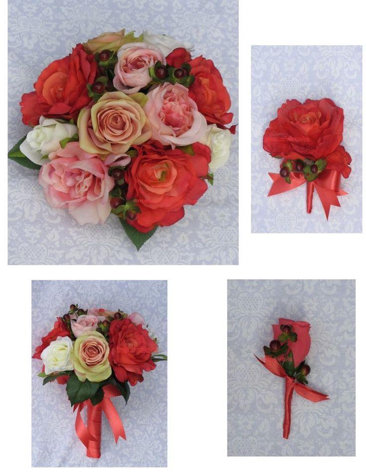 New Silk Guava Bridal Bouquet, Guava Wedding Flowers, Guava Wedding Bouquet #KymMaree #Wedding #FlowersBouquets