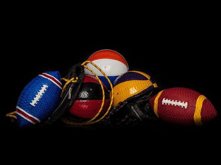 Elisabeth Weinstock Creates Snakeskin Football and Basketball Equipment #men #gifts trendhunter.com