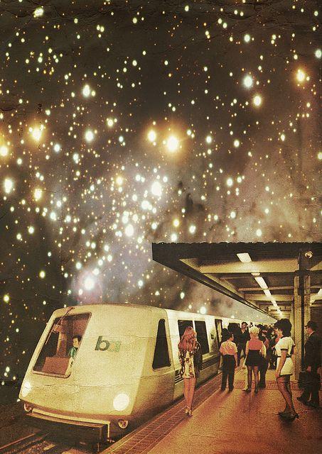 Enter the Night from Collage al Infinito series by Mariano Peccinetti- aka Trasvorder