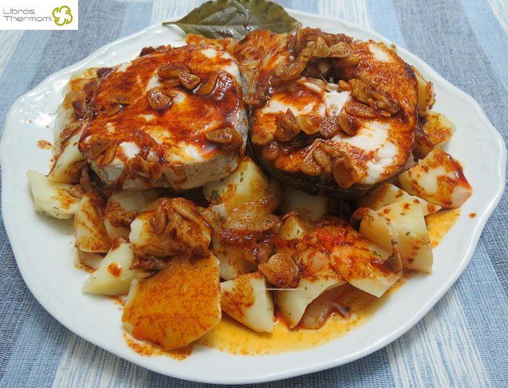 Merluza a la gallega con thermomix recetas de pescado - Machine cuisine thermomix ...