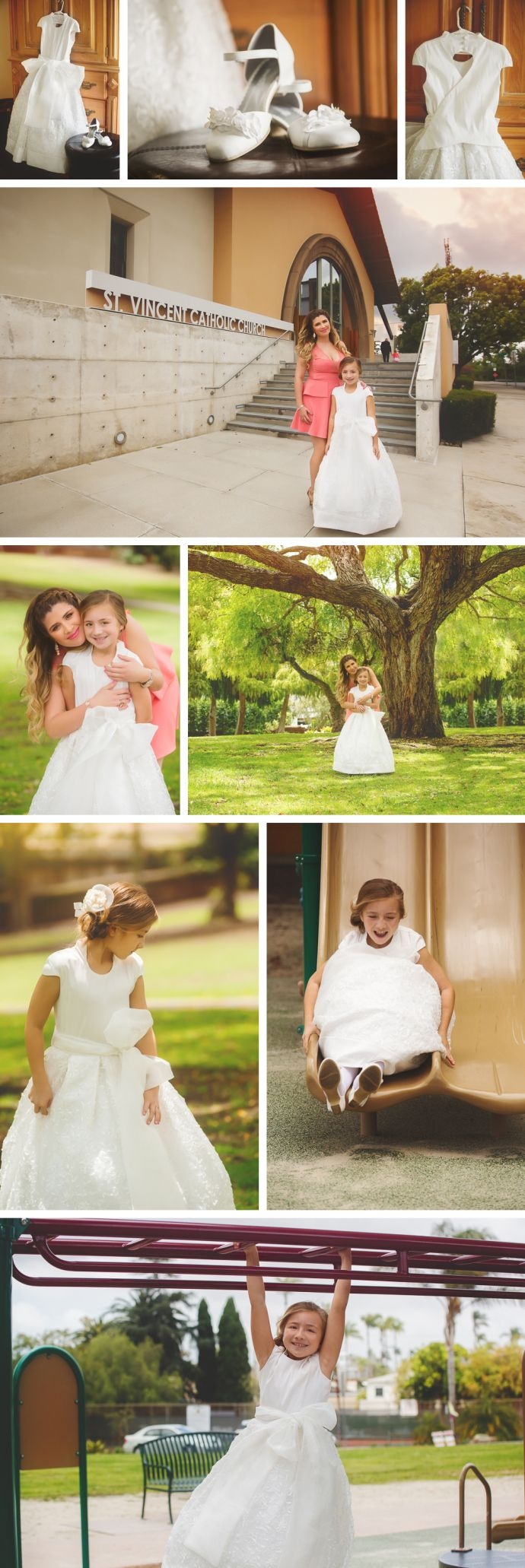 Beautiful First Holy Communion photo shoot in San Diego, CA