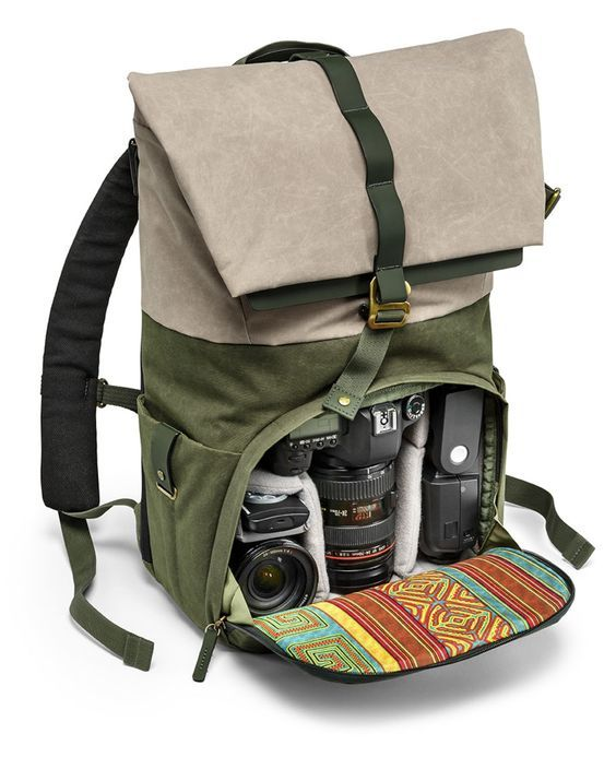 The Rain Forest collection is inspired by the environment and population of the rain forest.  The external fabric's green and taupe colours are reminiscent of the lush vegetation's big green leaves and majestic tree trunks, while the internal lining recalls the typical handicrafts made by the forest's local inhabitants.   The Rain Forest Medium Backpack (NG RF 5350) is the perfect solution for keeping all your photographic gear protected on your day trips thanks to the Manfrotto Protection…