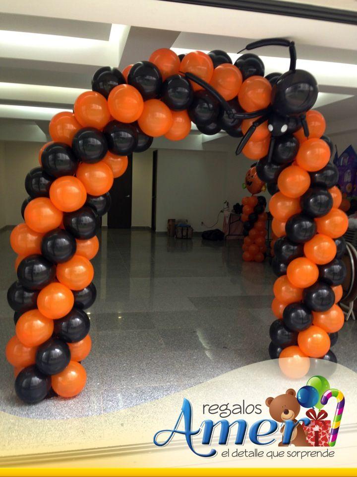 Arco con globo tejido y ara a decoraci n para - Decoracion de halloween ...