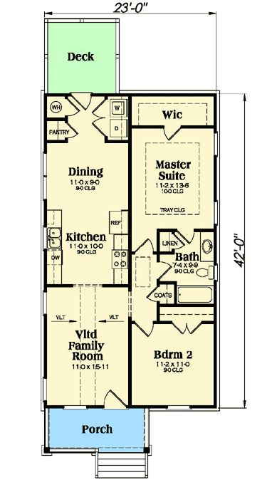 Plan 75470gb darling bungalow house plan in 2019 dream - First floor master bedroom house plans ...