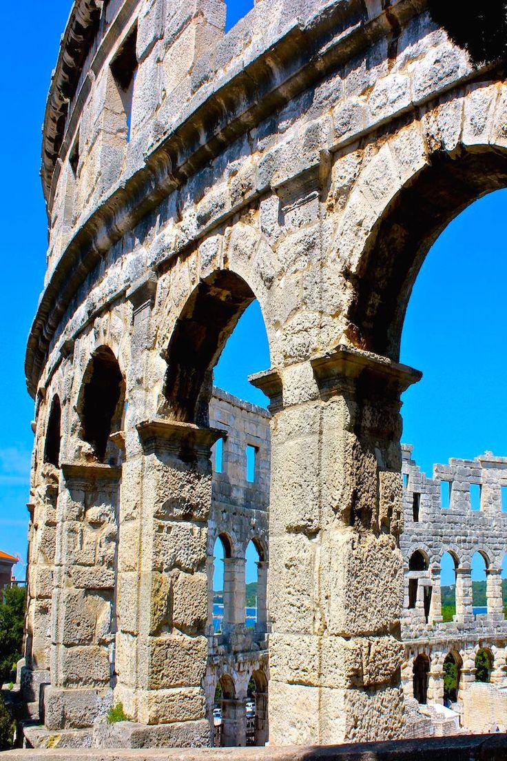 The Roman Amphitheatre in Pula Croatia