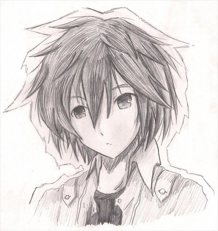 How To Draw Manga Black And White Pencil Sketch Anime Boy Sketch Anime Boy Anime Drawings Boy