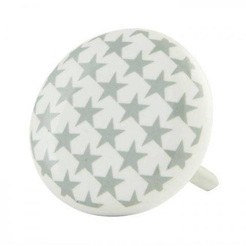 Deurknopje rond met grijze sterren