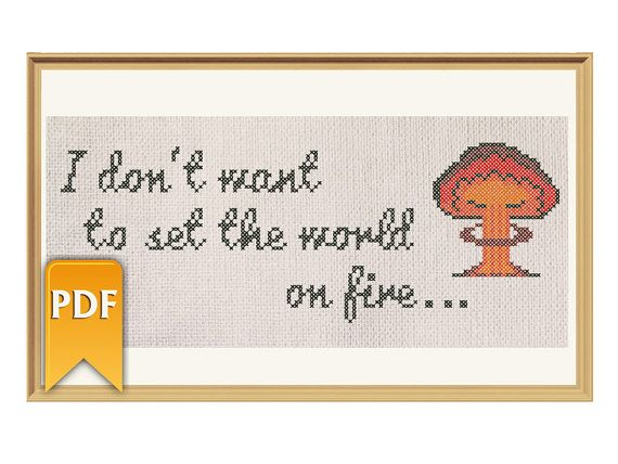 I don't want to set the world on fire Fallout by HappyStitchNet