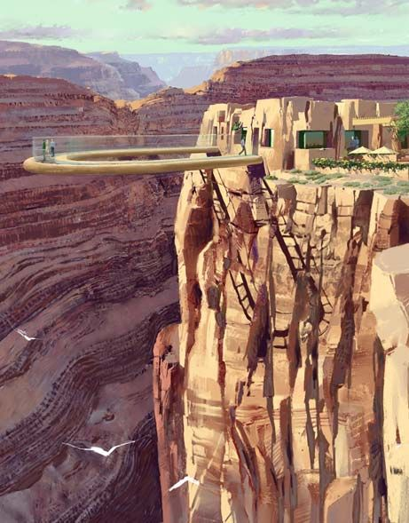 Skywalk the Grand Canyon. Even though this scares the shiz outta me .. It's pretty sick.