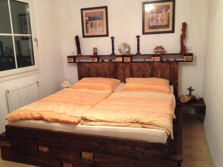palettenbett pallet bed - Wie Baut Man Ein Kopfteil Aus Paletten