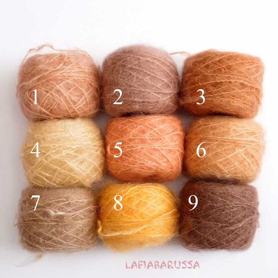 Hand dyed combed Mohair yarn  waldorf doll hair. by LaFiabaRussa