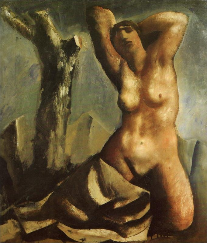 Nude with tree, 1930-Mario Sironi - by style - Neoclassicism
