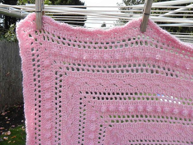 Crochet Baby Blanket Lace Pattern : Ravelry: Crocheted Lace Baby Blanket pattern by Amy Dorr ...