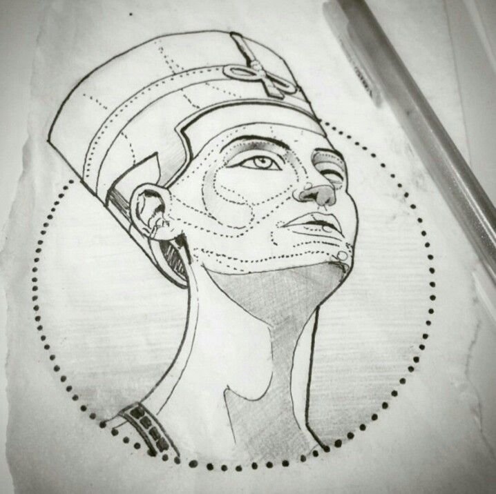 queen nefertiti dots in face are where i would put the shading if any one wonders about. Black Bedroom Furniture Sets. Home Design Ideas