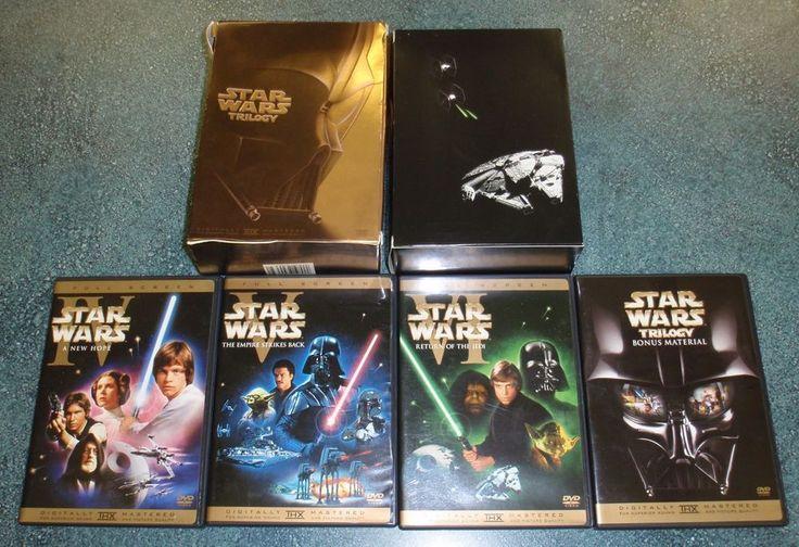 Star Wars Trilogy DVD A New Hope Empire Strikes Back Return Of Jedi $0.99 Start!