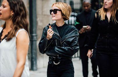 love this boyish haircut from London Fashion Week || Street Style || British Vogue