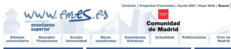 http://www.emes.es Información Espacio Madrileño de Educación Superior: titulaciones, becas, notas de corte, ponderaciones...
