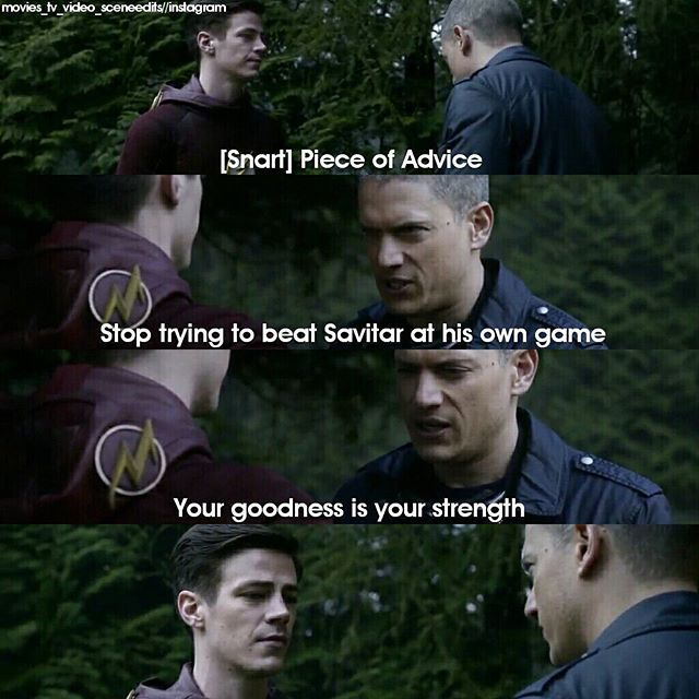 Aww, poor Snart. He changed like Barry thought he would. And he died sacrificing himself. Respect.