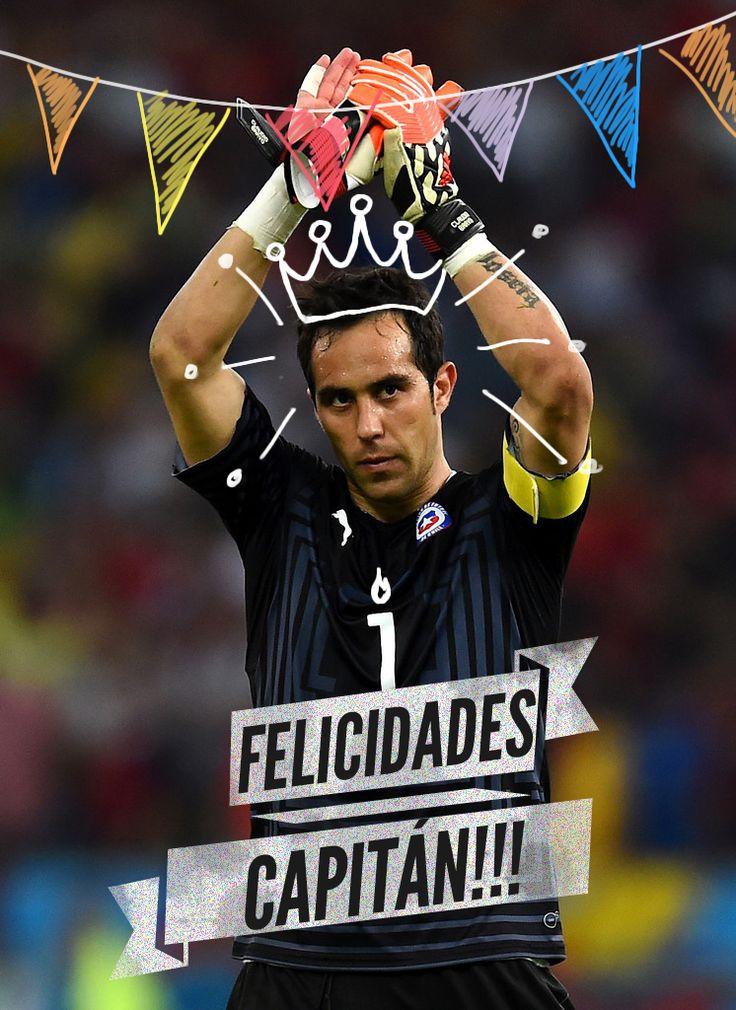 ¡Claudio #Bravo celebra su cumpleaños n° 32 y en Titular nos autoinvitamos a la fiesta. Que el regalo llegue el 4 de julio en el Estadio Nacional, eso sí! #DéjaleTuMjeAlCrack! www.titular.cl